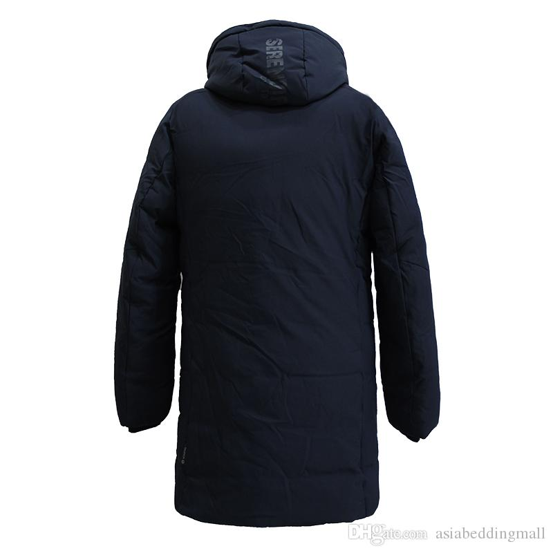 New Winter Coat Men Parka Homme Cotton Padded Quilted Jackets Mens Winter Jackets And Coats Detachable Hood Long Coat Mens