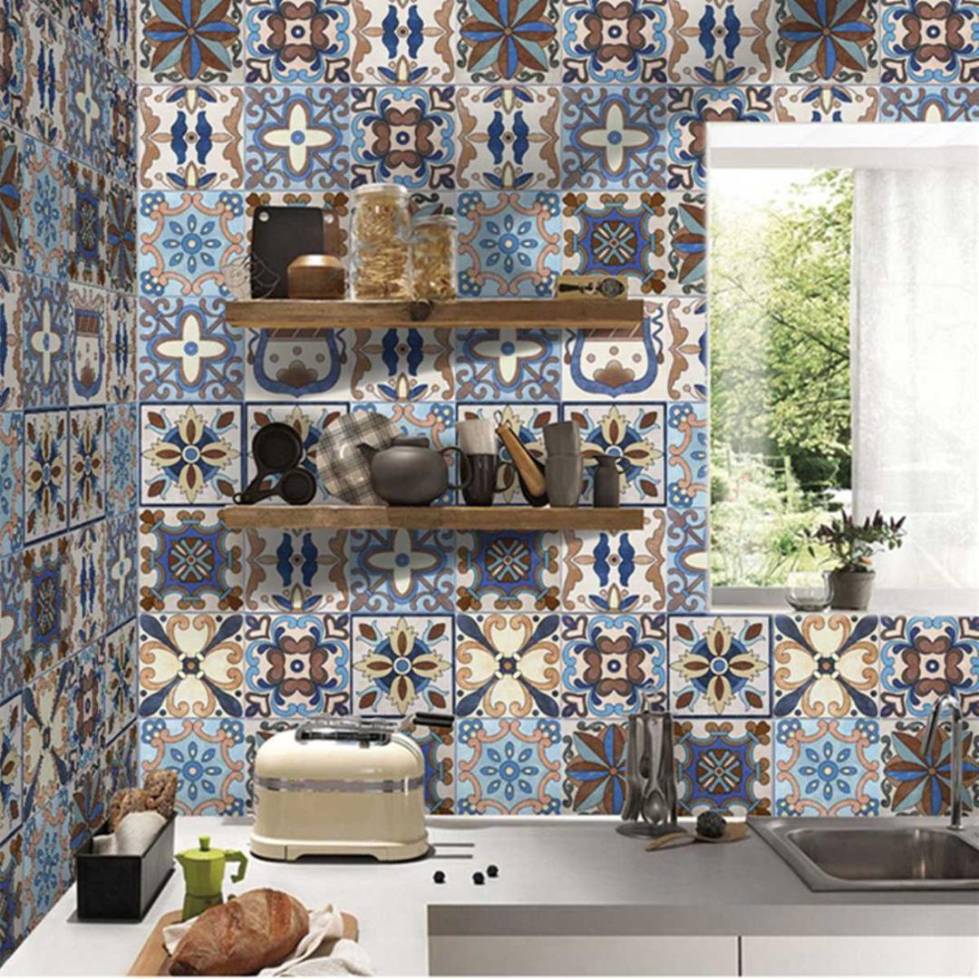 Piastrelle Cucina Con Fiori acquista 5m pvc autoadesivi piastrelle adesivi murali pavimento mosaici art  decal impermeabile cucina home room decorazione fai da te fiori murales a