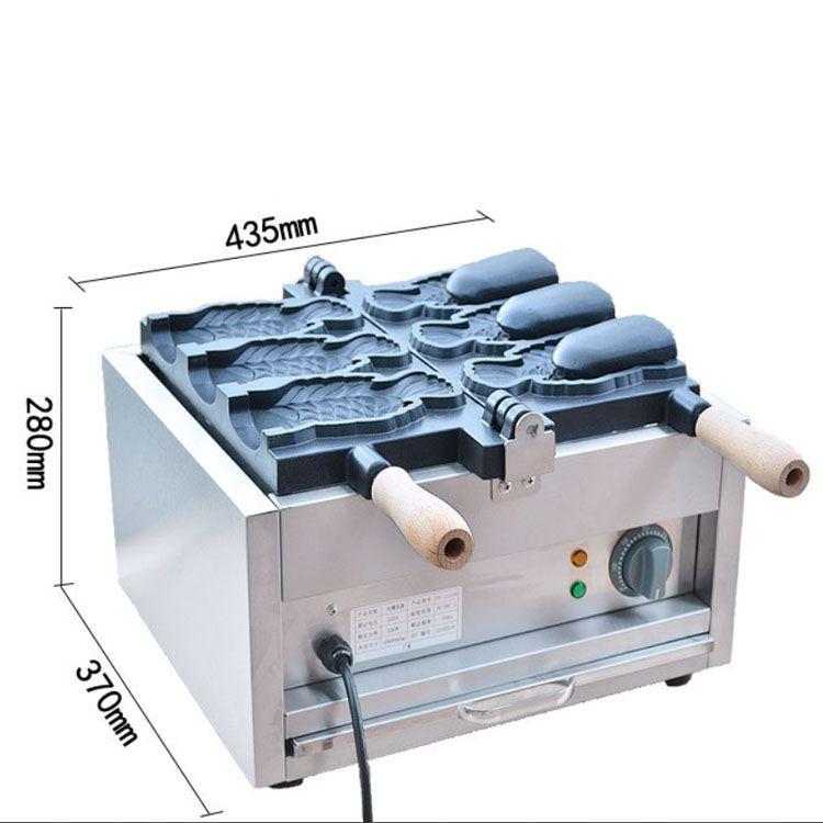 En Çok Satan Elektrikli Dondurma Taiyaki Makinesi / Ağız Açılış Balık Kek Makinesi Makinesi / Taiyaki Yapma Makinesi Satılık