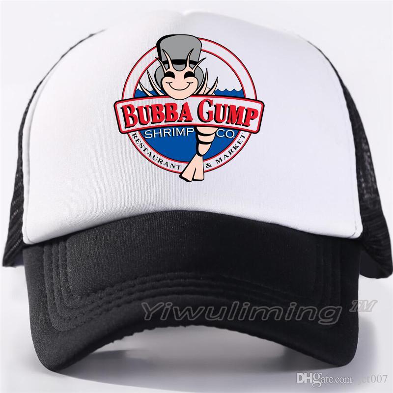 Forrest Gump Kappe Hut 1994 Bubba Gump Cosplay Caps GUMP Laufsport Außennetz Trucker Mesh Baseball Snapback Caps Hut
