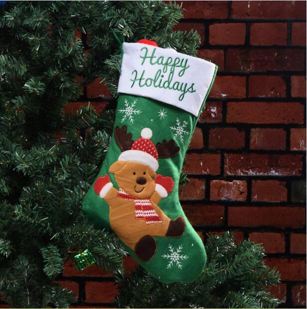 3 Estilos Meias de Natal Meias Saco de Presente Decoração de Natal Elk  meias Meias de natal Saco de presente de Natal 45   26 CM SK051. FORMA DE  PAGAMENTO a8341b05126fe