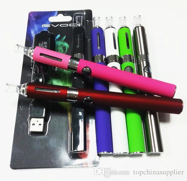 Evod Blisters Kit Electronic Cigarette 2.4ml atomizer vape cartridge 650mAh 900mAh 1100mAh Evod Battery E Cigarettes vape