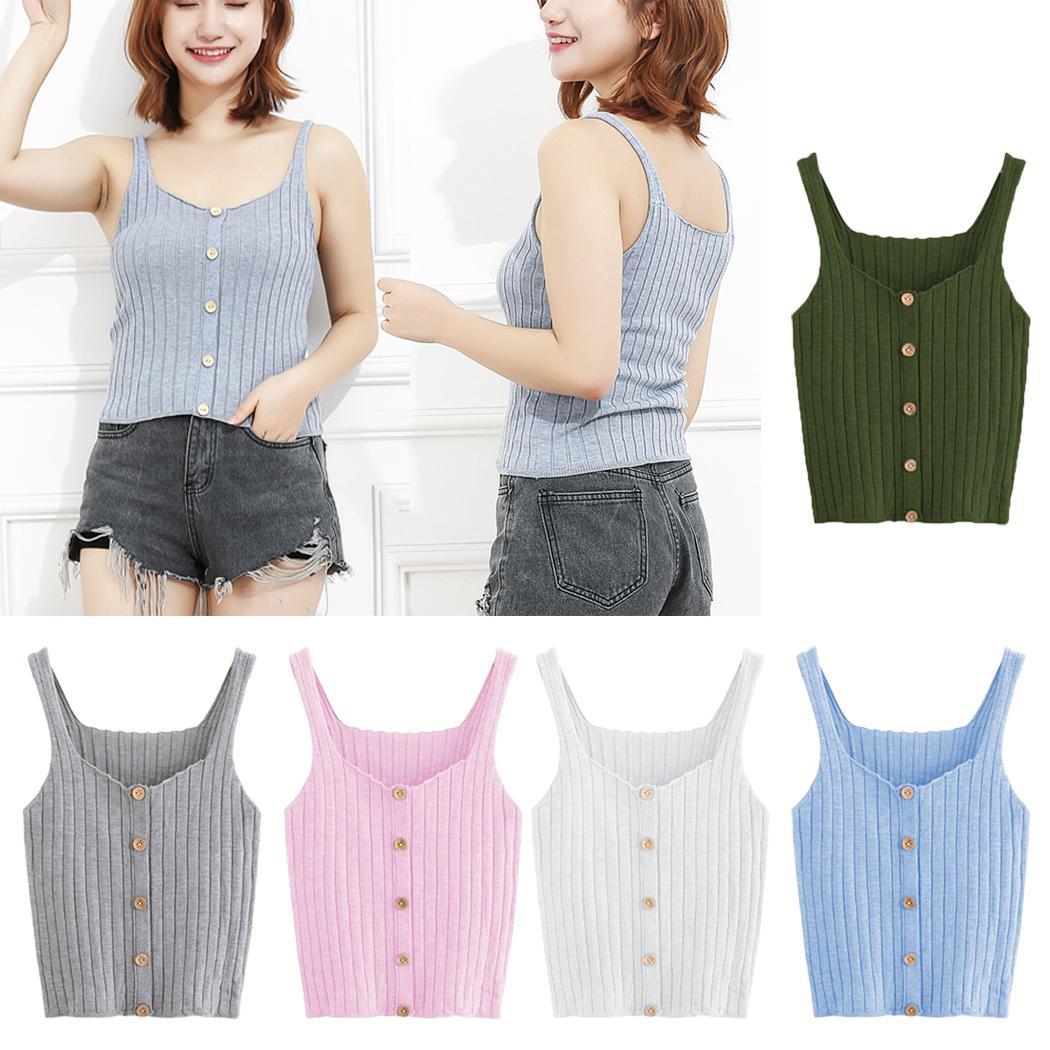 3 Pack Ladies TANK TOP RIB VEST  STRETCH Womens Girls T-Shirts Top Wholesale