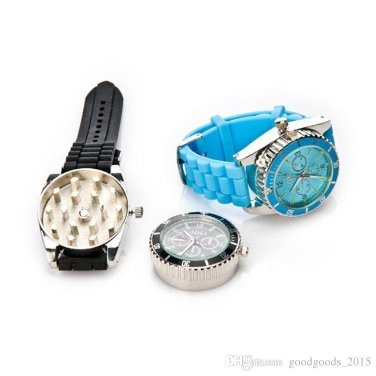42MM 시계 흡연 허브 그라인더 아연 합금 금속 4 색 향신료 꽃가루 크리 에이 티브 손 뮬러 크러셔 b585