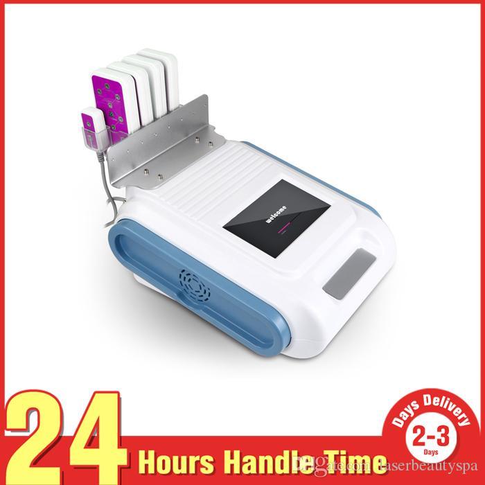 Karın Uyluk Selülit Kaldırma 160mW HBÖ Zayıflama Lipo Lazer Fat Burning Temizleme Güzellik Makinesi 4 Büyük + 2 Küçük Pedleri Ile