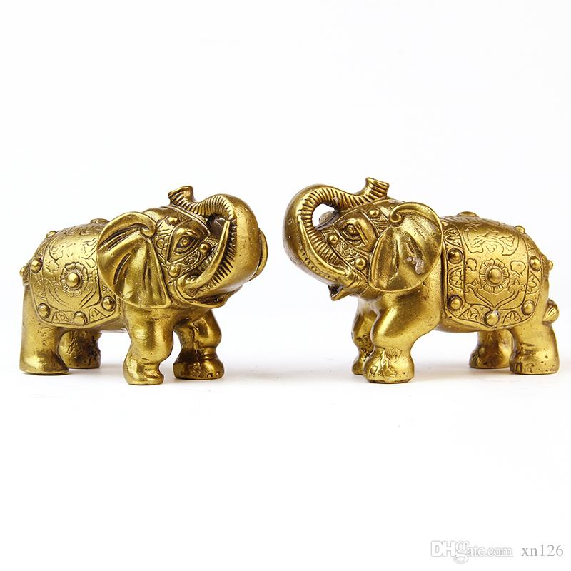 Kaiguang town house feng shui pure copper elephant ornaments lucky elephant business crafts