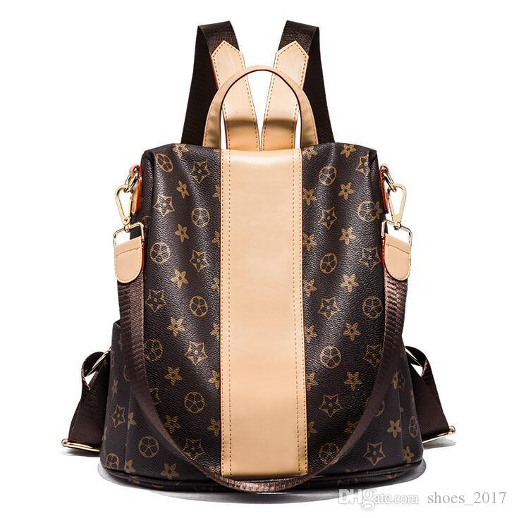 안티 절도 가방 패션 핫 엄마 가방 2018 새로운 인쇄 다기능 여성 레저 여행 배낭 최신 대용량 브랜드 디자인