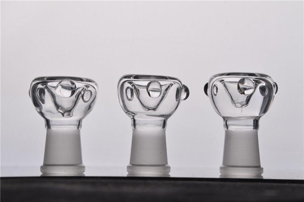 Real Picuture Billig klar 14mm 18mm Männliche Weibliche Gelenkschüssel Bong Dicke Glasbongs Rauchen Zubehör Glas Bong Zubehör Freies Verschiffen