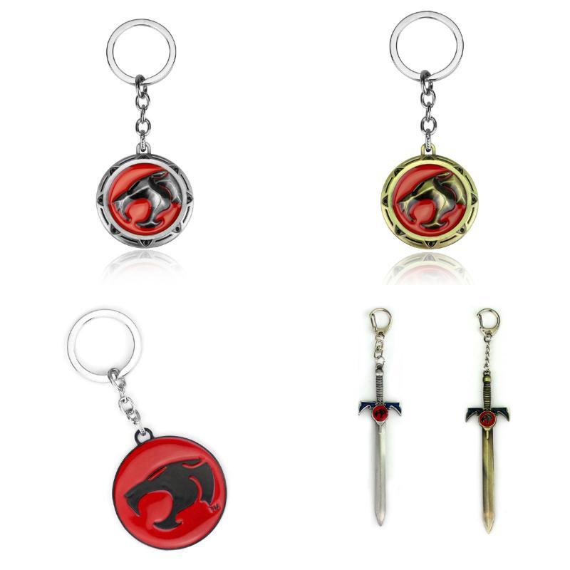 New Cartoon Animation Thundercats Sword Keychain 12 cm Metal Model Keyring gift key ring chain holder for car souvenirs