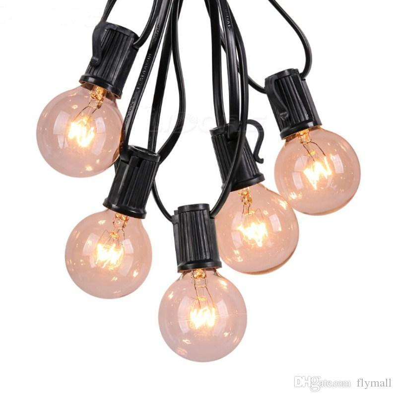 25Ft LED G40 String Lights with 25 LED Warm Globe Bulbs UL Listed for Indoor/Outdoor Garden Patio Yard Light outdoor party bulb string light