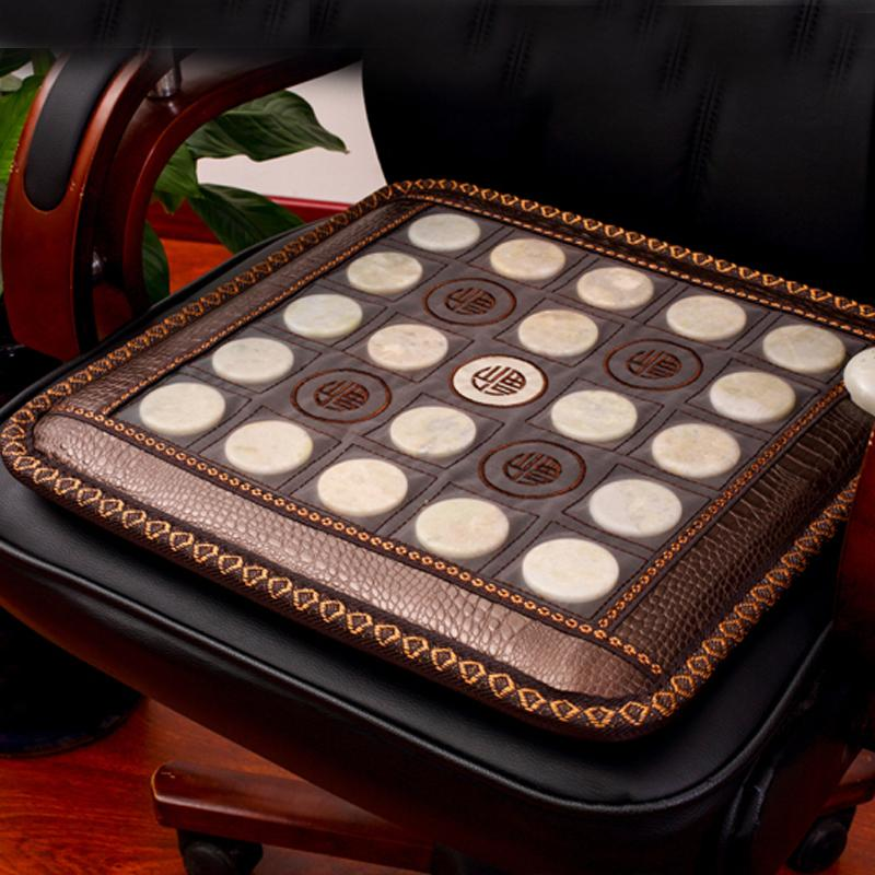 Natural Jade Mat Electric Cushion Healthcare Heated Chair Mat with Therapy Function Tourmaline Stones Heating Mat for Chair