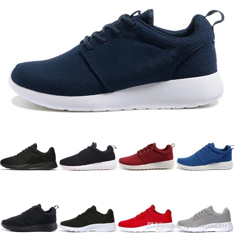 Nike Air Roshe run one Tanjun zapatos de correr gratis Tanjun Negro blanco Hombres Mujeres zapatos para correr London Olympic Runs mens deportivos Zapatillas de deporte corredor Sneaker talla 36-45
