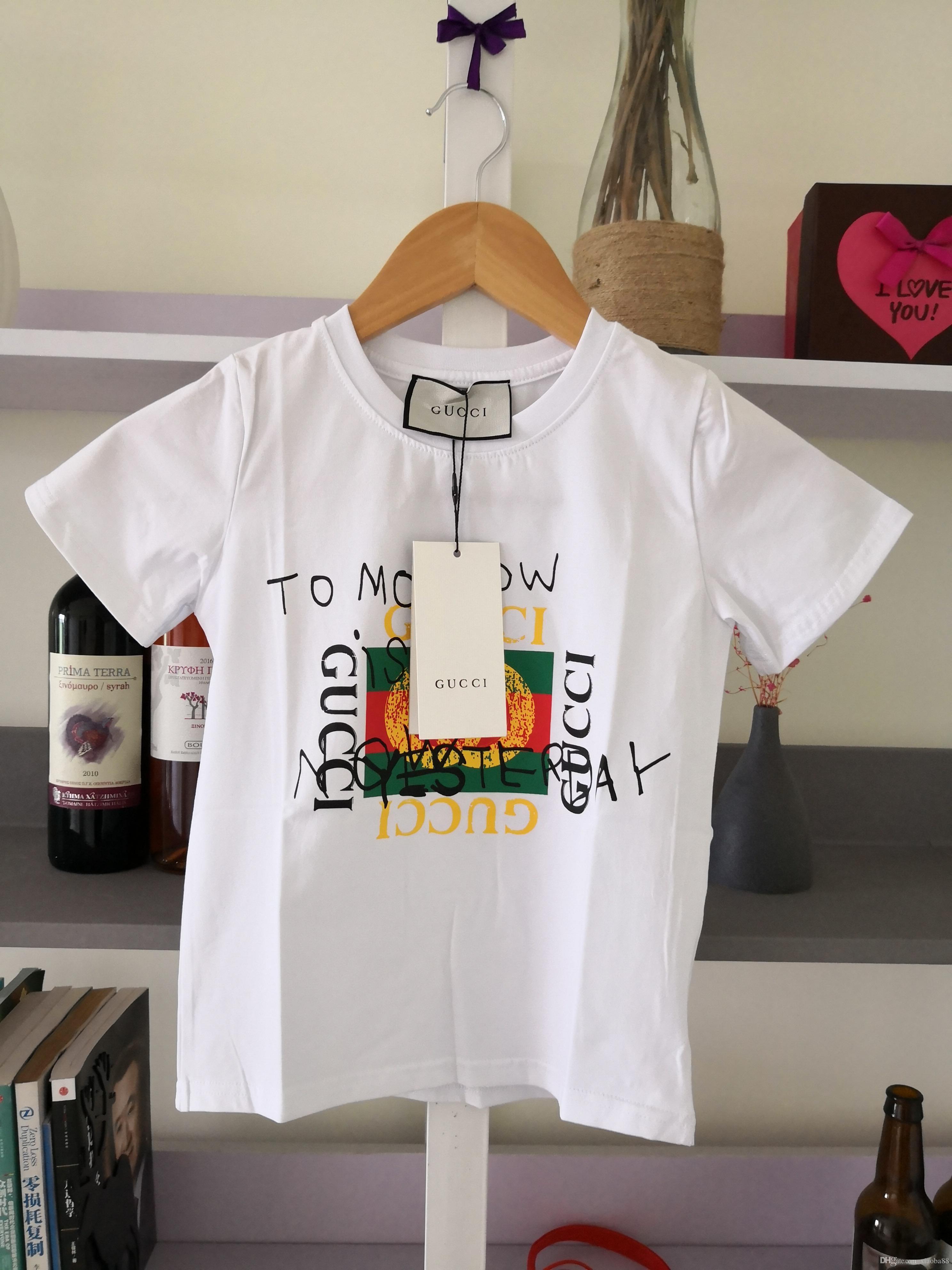 Confortevoli Shirts Bambini Estate T sveglia del gatto del modello Top neonate Ragazzi T-shirt per bambini Abbigliamento 5-16 anni