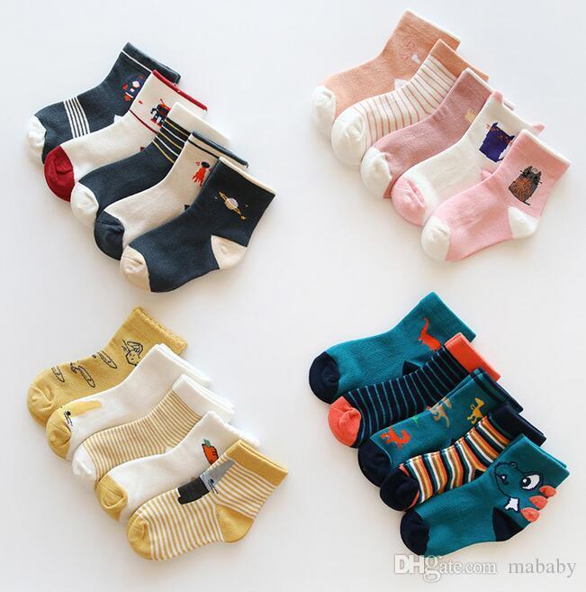 18 nuevos calcetines de algodón y calcetines de algodón para niños y niñas de otoño e invierno calcetines calcetines de bebé envío gratis
