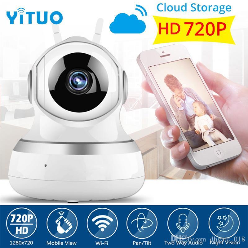 Bulut Depolama 720 P IP Kamera Kablosuz Wifi Wi-fi Video Gözetim Gece Güvenlik Kamera Ağ Kapalı Bebek Monitörü YITUO