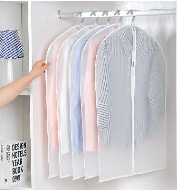 Transparent Wardrobe Storage Bag Clothing Dustproof Bag Jacket Coat Dress Dustproof Cover Clear Garment Hanger Bags