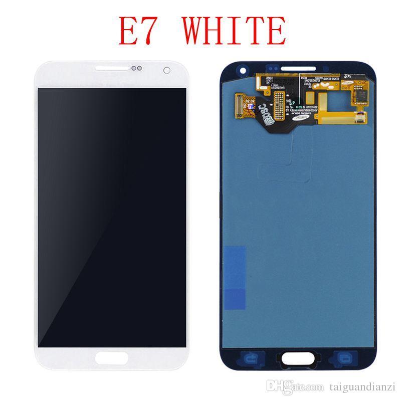OLED LCD 5.5 '' Ekran Yedek Parçalar SÜPER AMOLED SAMSUNG Galaxy E7 için LCD E700 E7000 Dokunmatik Digitizer Meclisi
