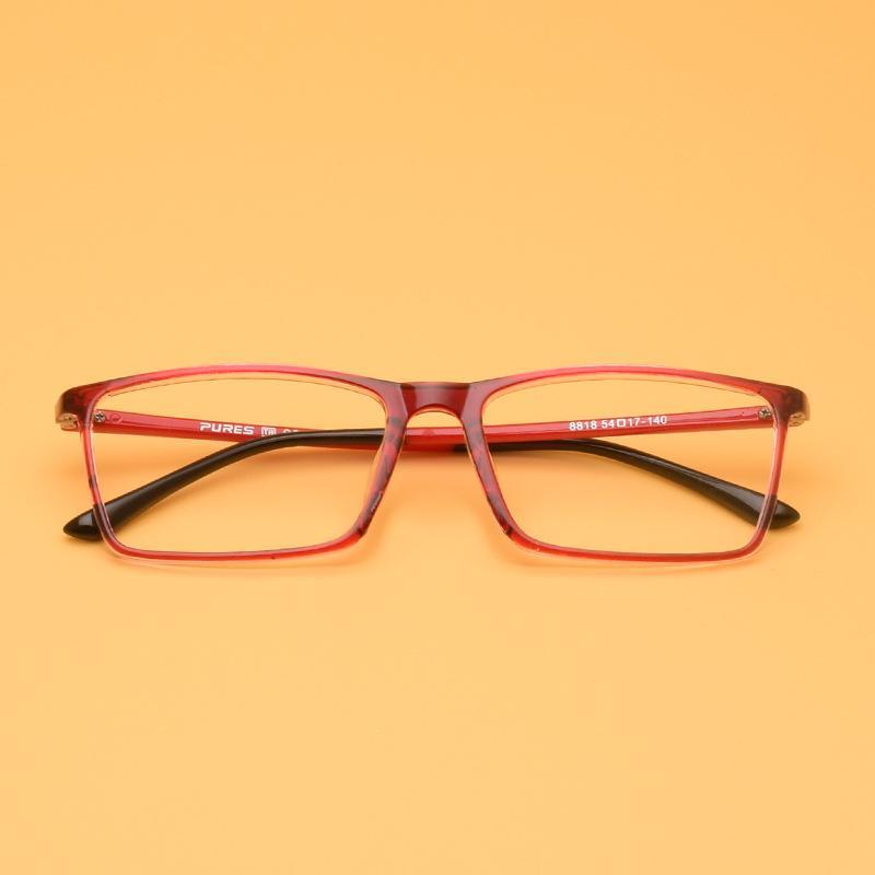 Новая мягкая мода старинные очки рамка женщины мужчины очки кадр площадь ультра-легкие очки TR90 очки кадр