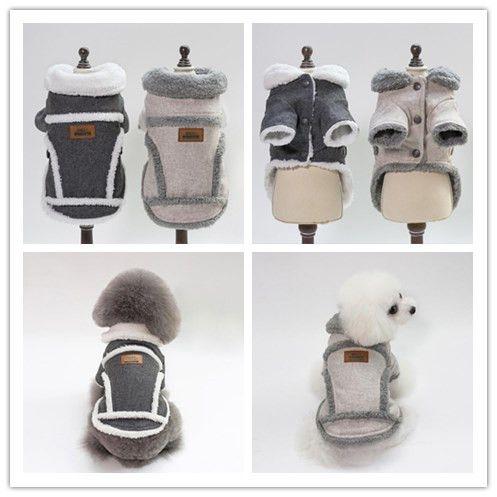 1 PCS Dog costume Dog clothes jacket 5 size pet warm clothes high quanlity cotton puppy coat autumn winter dog apparel pet supplies