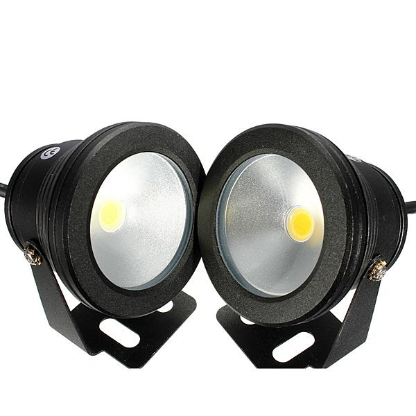 4 قطعة / الوحدة rgb 10 واط dc12v تحت الماء أدى أضواء نافورة أدى بركة مصباح بركة ضوء ip68 تحت الماء أدى ligh
