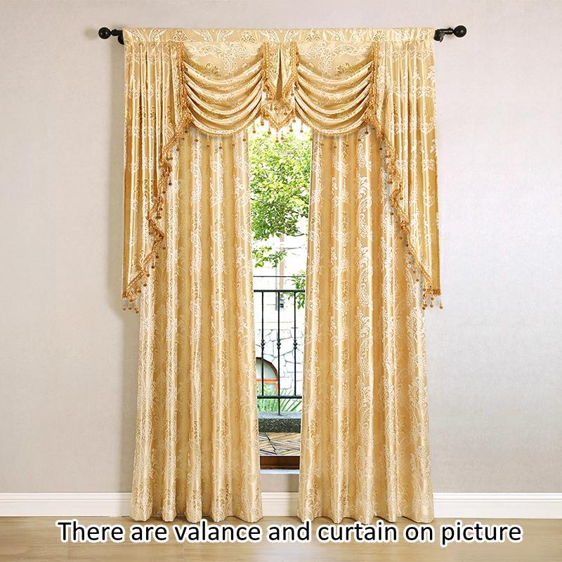 Novo Design Europeu Golden Royal Luxury Cortinas para cortinas de janela de quarto para sala de estar elegante cortina europeia