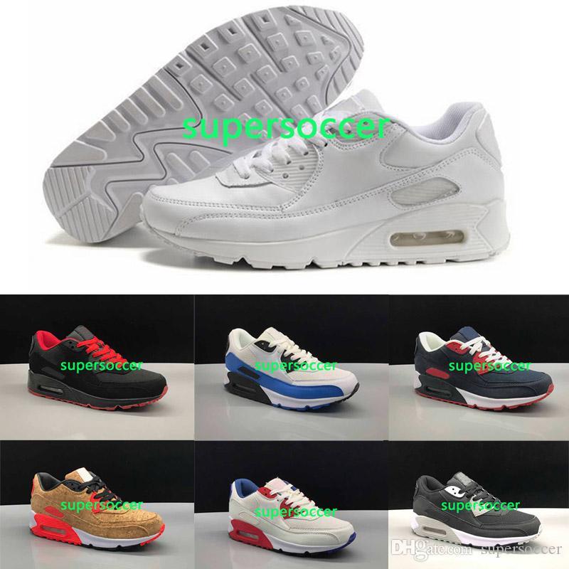 Almofada de alta qualidade New Fashionable e confortável respirável homens sapatos tênis de corrida Sneaker