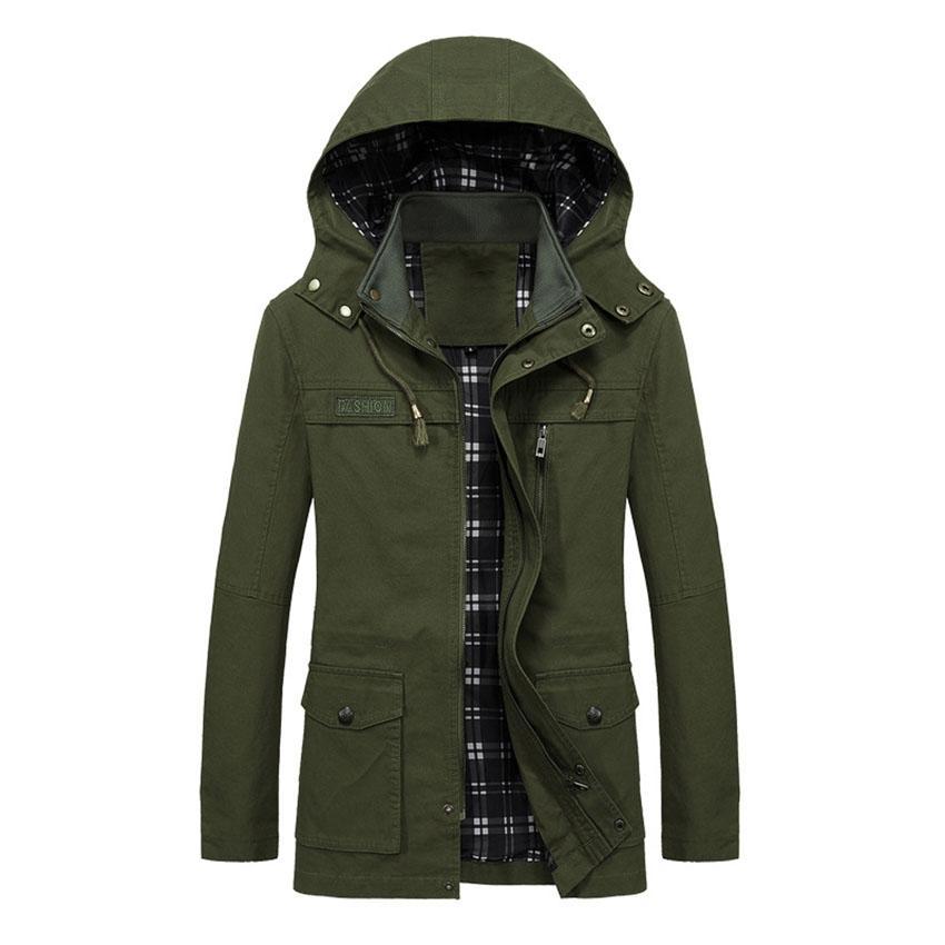 2018 Envío gratis la chaqueta ocasional de los nuevos hombres del otoño, lavado de algodón, chaqueta cortaviento suelta de gran tamaño cxy122