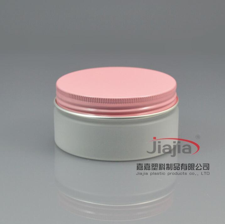 بلوري 80G واضح PET يمكن مع الذهب / أبيض / الوردي الألومنيوم غطاء، البلاستيك تعليب جرة بلاستيكية يمكن للأغذية حاوية 80ML