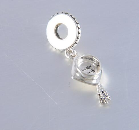 UK Made 925 Findings Sterling Silver Charm Sleeve Cap for Glass Beads