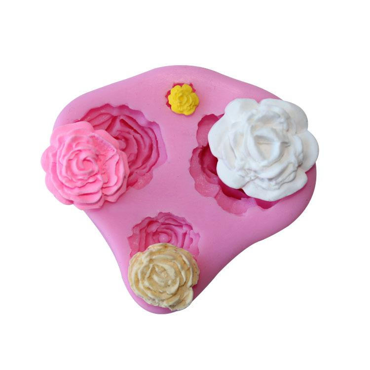 Flower silicone cake mould fondant molds baking decorating tool non stick handmade chocolate mold 3D silicone mold cake decoration