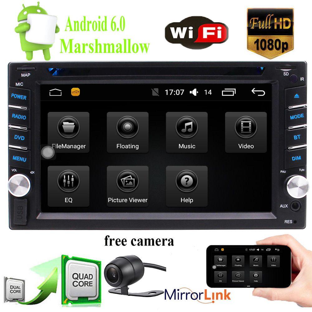 "EinCar 6.2 ""Double-DIN Android In-Dash car DVD Receiver Bluetooth GPS Navigation السيارات الصوت في Dash AM FM Radio 2Din Headunit Mirror Link"