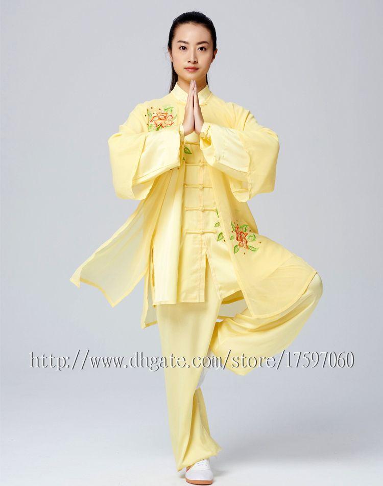 Chinese Tai chi clothes Kungfu uniform Taijiquan costume Qigong outfit embroidery garment for women men girl boy children adults kids