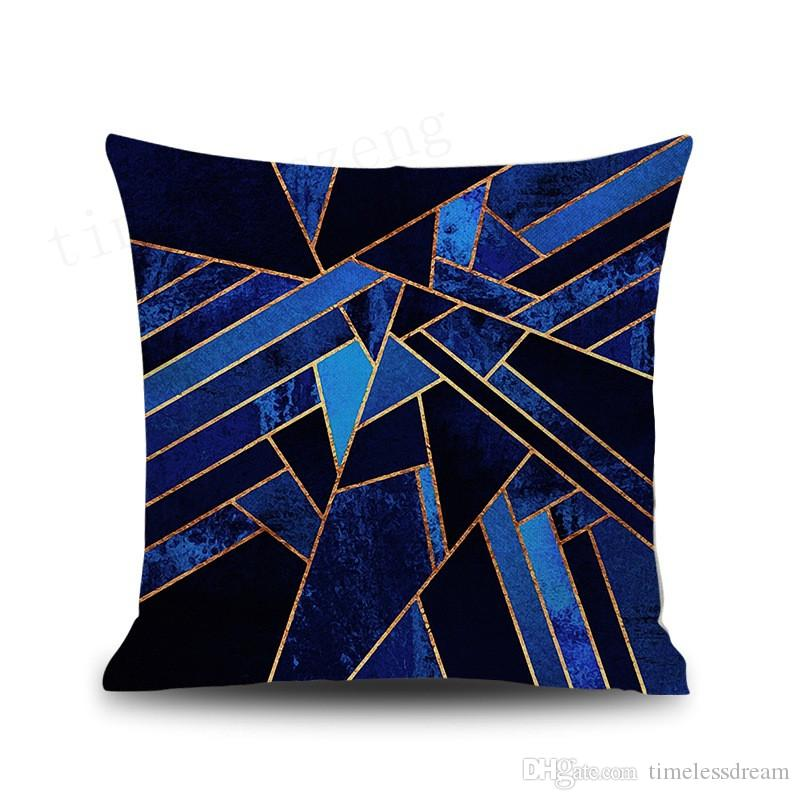 Marble background geometry pillow case 9 styles linen fiber pillowcase Home party sofa cushion cover New arrivel