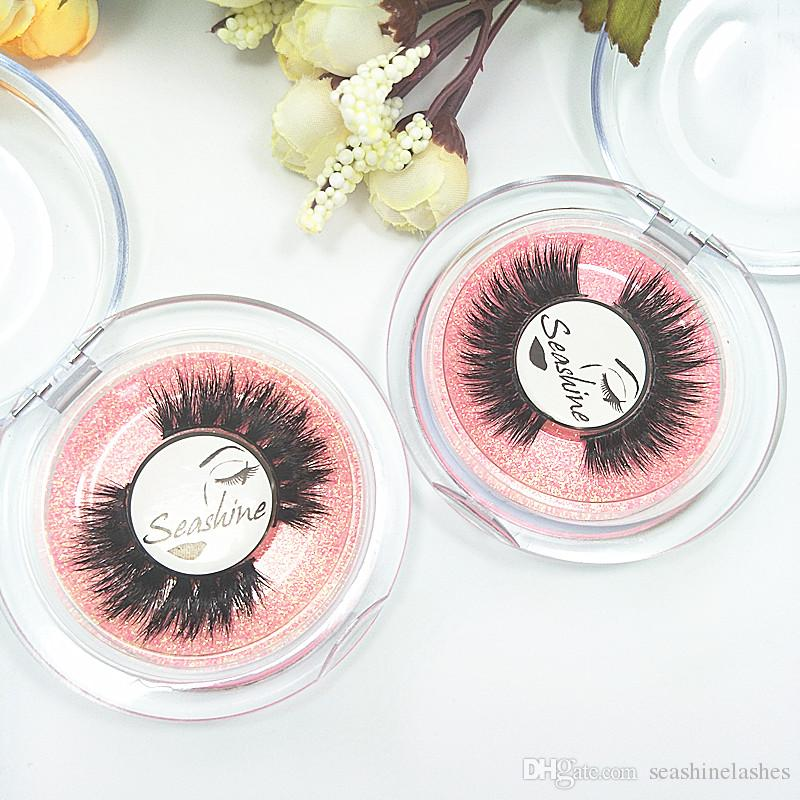 Seashine 10 Par 100% Real Mink Natural Gruesas Pestañas Falsas Pestañas Extensiones de Maquillaje Herramientas de Belleza Nuevo envío gratis