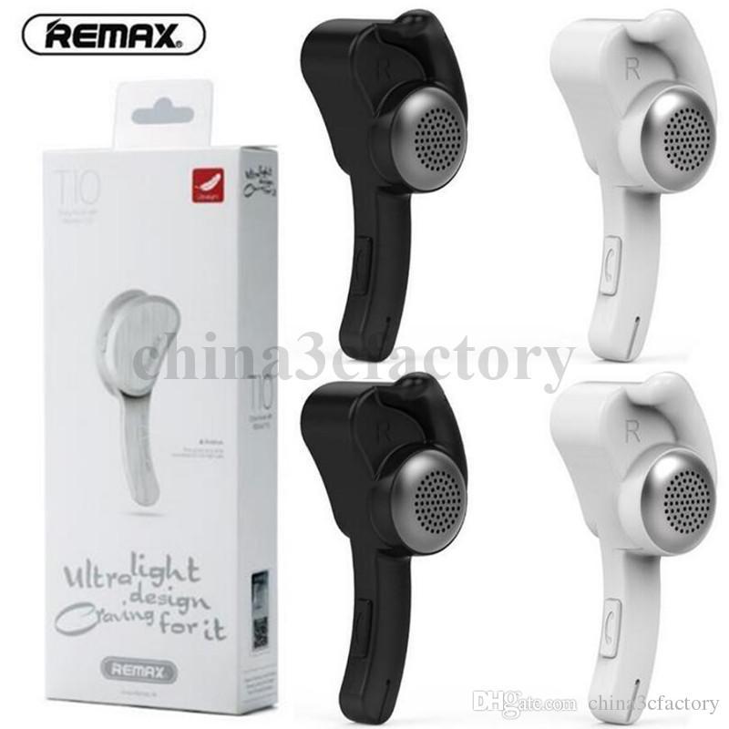 Remax T10 EarHook беспроводная стерео мини Bluetooth бизнес гарнитура наушники Наушники Handsfree с микрофоном для PS3 смартфон