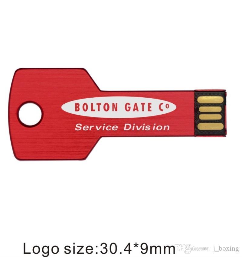 Toplu 50 adet 16 GB Özel logo USB 2.0 Flash Sürücü Anahtar Modeli Kişiselleştirin Adı Kalem Sürücü Bilgisayar Laptop için Kazınmış Marka Memory Stick Tablet