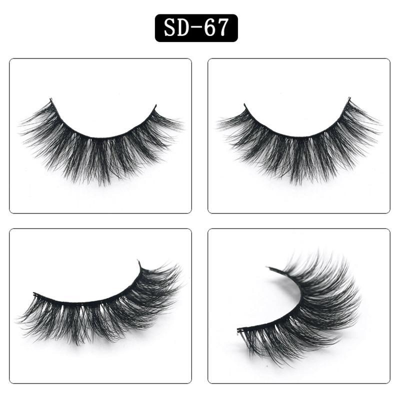 Preço de fábrica OEM sintética cílios Cílios desarrumado Eye lash macia Extensão Sexy pestana tira completa Eye Lashes