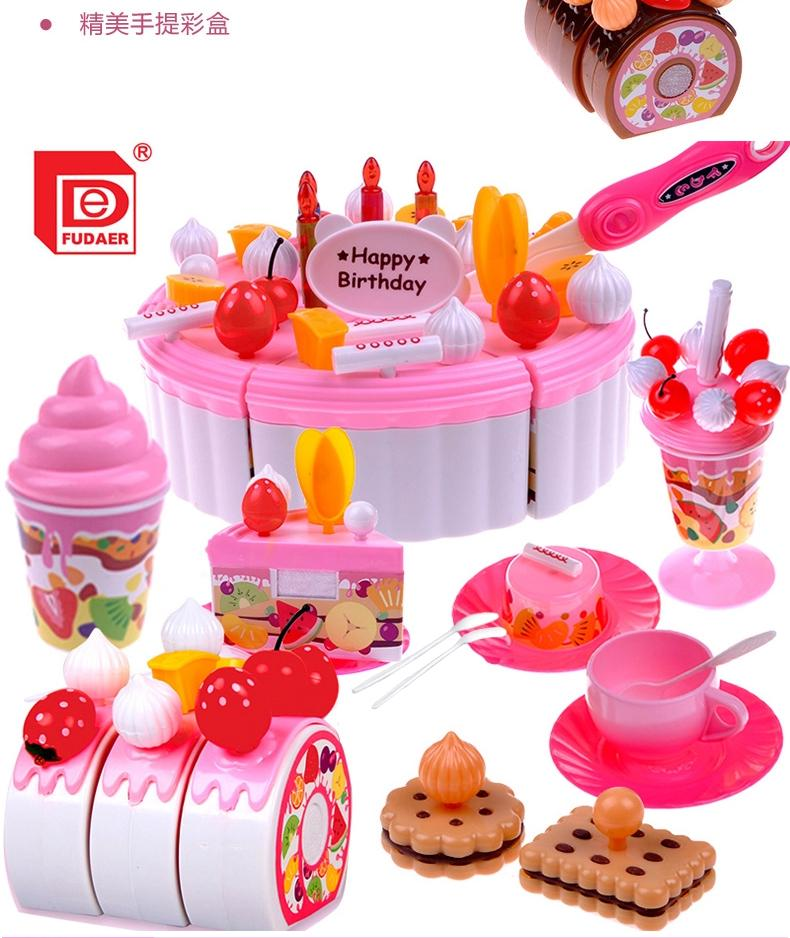 Kids Kitchen Accessories >> 2019 Kids Kitchen Play Set Toys Pretend Play Girs Kitchen Accessories Set Birthday Cake Toys Frutas De Brinquedo From Luckyno 25 04 Dhgate Com