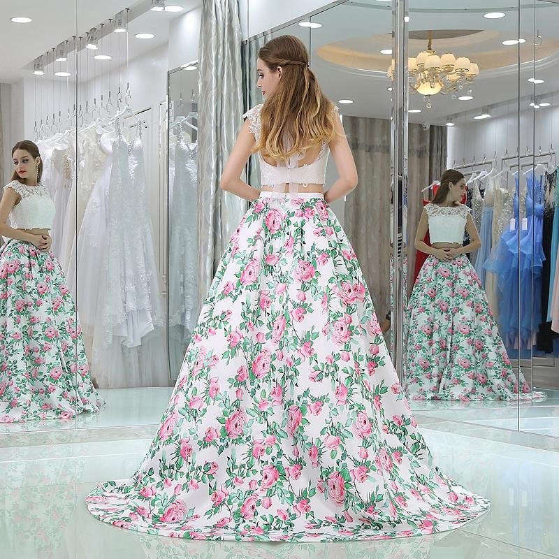 fa671a663821b Wholesale White Girls Prom Dress Floral Skirt Lace Top Bridesmaid Dresses  Long Open Back Satin Women Formal Party Gowns Custom Bridesmaid Dresses  Dark ...