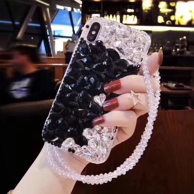 3D Crystal Rhinestone Bling Back For A5 A7 A8 Plus 2018 Case For Samsung Galxy S3 S4 S5 S6 S7 Edge S8 S9 Plus DIY Diamond Cover