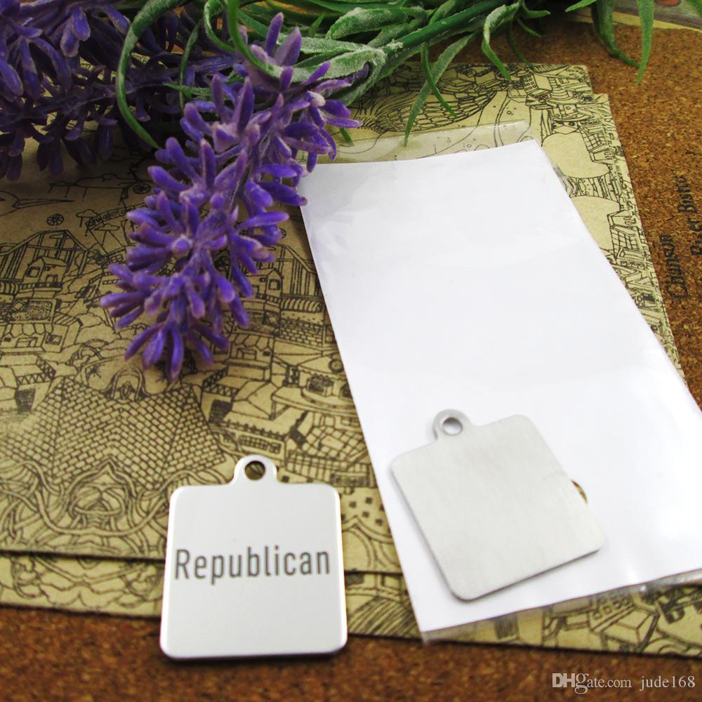 40pcs - «repulican» прелесть нержавеющей стали больше стиля для выбора DIY очаровывает подвески для ожерелья