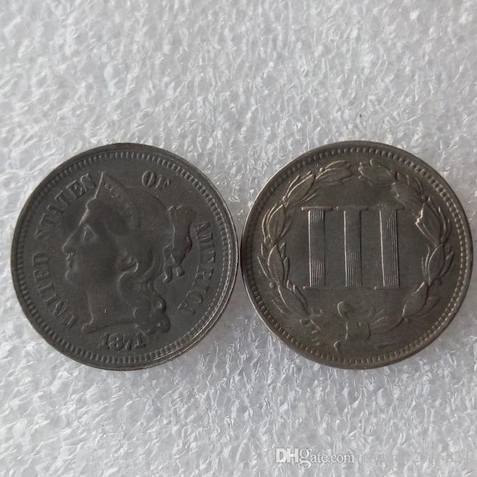 US 1871 THREE CENT NICKEL Pièce de monnaie Pièces de décoration accessoires de décoration