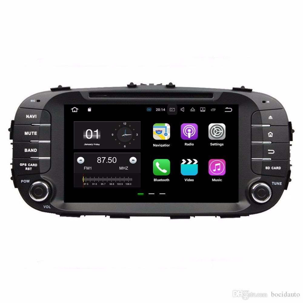 1024 * 600 أندرويد 7.1 رباعية النواة راديو السيارة دي في دي GPS الوسائط المتعددة لاعب سيارة دي في دي لكيا سول 2014 2015 2016 مع بلوتوث واي فاي مرآة رابط