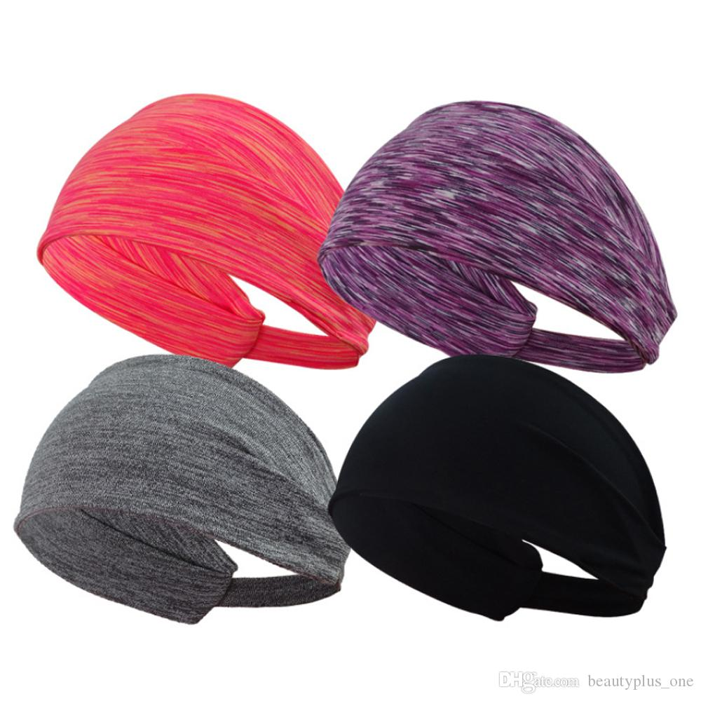 2018 Fashion Sports StretchYoga Running Headband Women Elastic Absorb Sweat Hairband Print Lady Head wrap Wholesale
