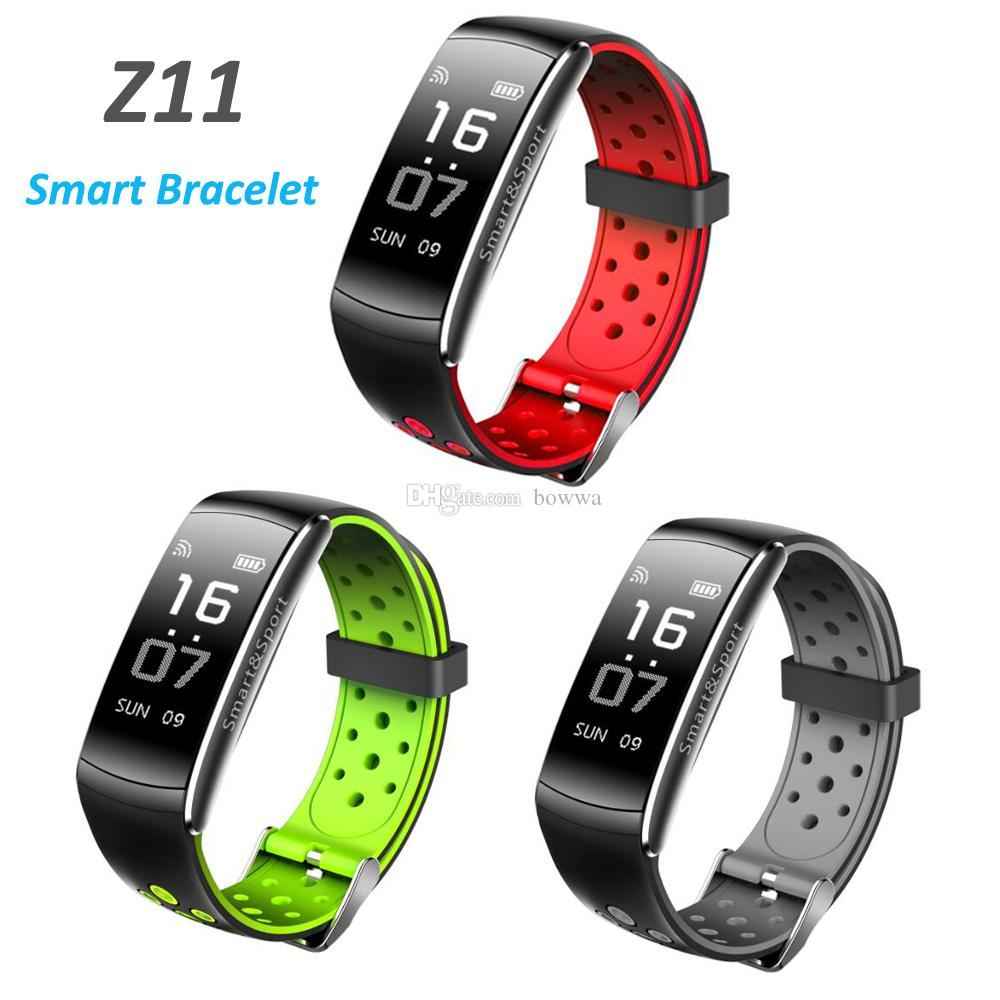 Z11 IP68 Waterproof Smartband Watch Blood Pressure Heart Rate Monitor Smart Bracelet Fitness Tracker Bluetooth Wristband Q8 updated