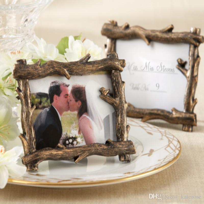 50PCS Scenic View Tree-Branch Picture Frame Place Card/Photo Holder Autumn Themed Wedding&Bridal Shower Favors FREE SHIPPING
