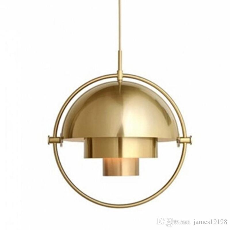 Современный металлический полукруглый Подвесной Светильник роскошный золотой деформируемый Подвесной Светильник Для гостиной ресторан бар деко освещения G237