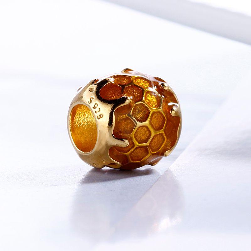 2018 printemps authentique réel 925 argent sterling non plaqué mignon chéri chrammes de miel de perles européennes ajustement pandora bracelet bricolage bijoux bricolage