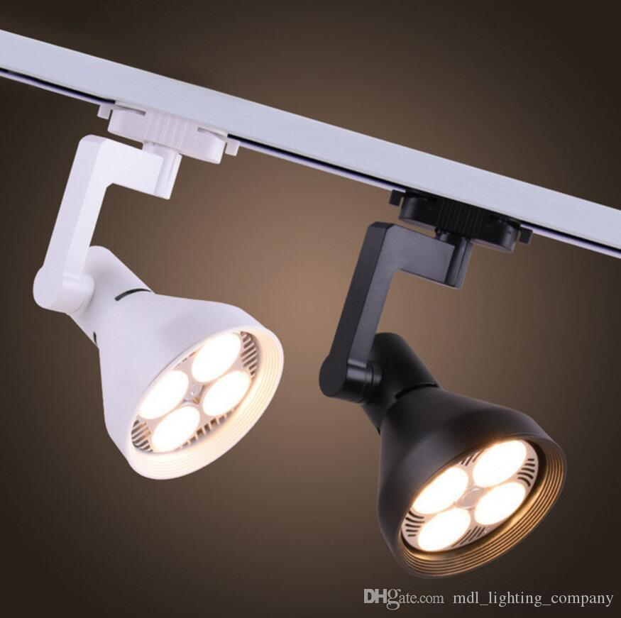35W LED Track Light Super bright two-wire COB track spot lighting PAR30 PAR38 for Clothing store exhibition hall Spotlight shop light