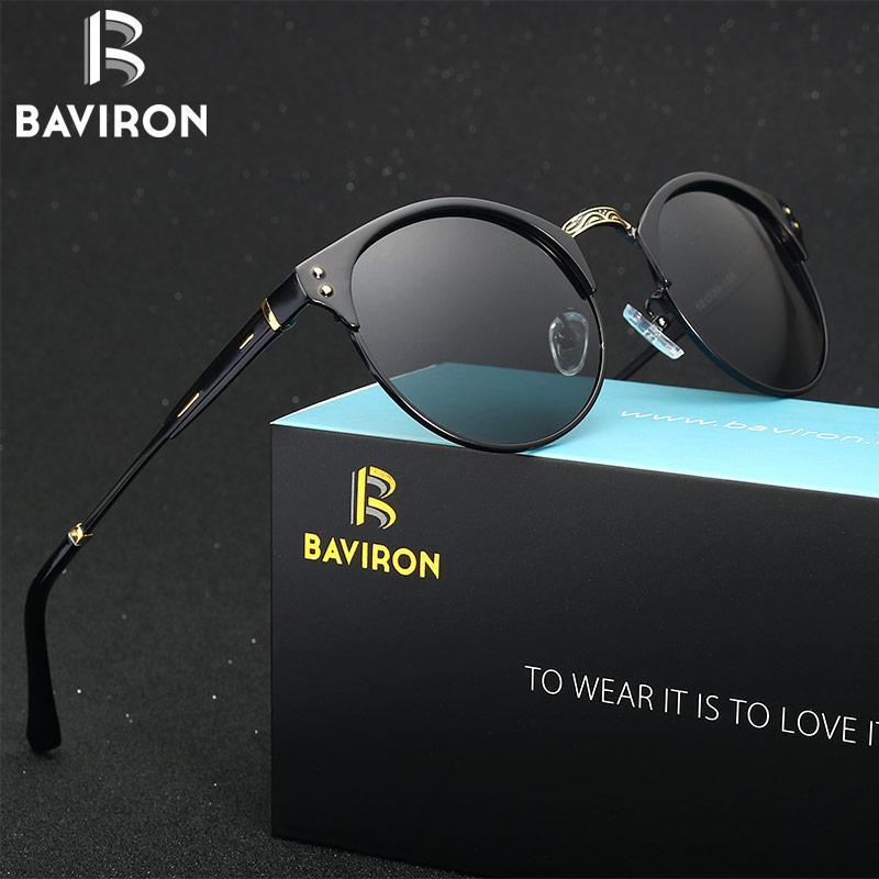 BAVIRON 2017 retro gafas de sol clásicas Hombre Mujeres gafas de sol polarizadas de aluminio Gafas de sol UV400 de conducción Gafa 036 Oculos